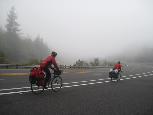 Biking through NorCal fog