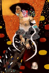 Week 36:  For Gustav Klimt (Judith II Revisited) (MiaBia_DC) Tags: art love fashion mobile digital painting paint ipod finger touch klimt gustav mia brushes tribute robinson fingerpainting fingerpaint iphone mobileart itouch