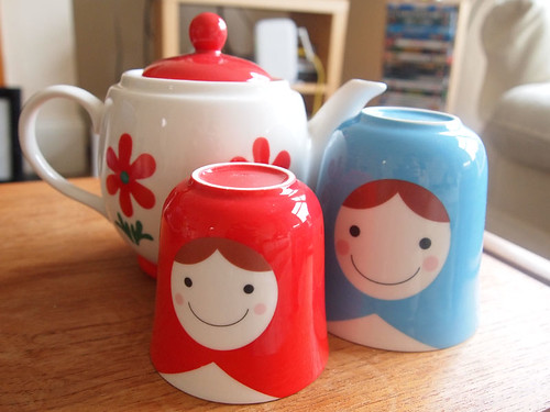 Russian doll stacking teapot