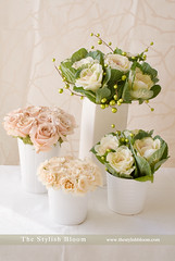Vintage floral centerpieces (L'esprit Sud Magazine) Tags: pink flowers wedding roses holiday flower floral vintage design vase romantic ornamental kale floraldesign centerpieces onlinemagazine thestylishbloom wwwthestylishbloomcom dazzlingflowerideas