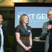 Ken Bautista and Tegan Martin-Drysdale with Mayor Mandel