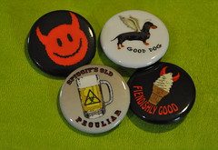 John Connolly's hellish badges