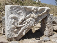 ANCIENT GIRL (dimitra_milaiou) Tags: summer sun white art history girl stone museum architecture greek grey sony tourist greece summertime marble ephesus archeological dimitra hellenic efessos dscp93a  aigaio  globalinterest milaiou