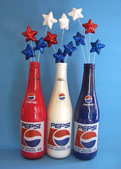 Americana (Sofia Katariina) Tags: blue red summer usa white glass glitter america stars bottle paint cola drink 4th july craft pop pepsi soda