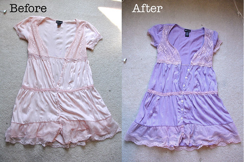 Dyeing This Dress Purple: Before & After