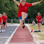 Elizabeth winning the long jump!