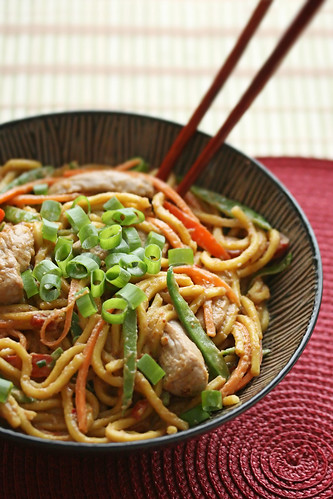 Desperation Dinners - Spicy Peanut Butter Noodles - Crumb: A Food Blog