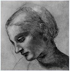 The Head of Madonna by Leonardo da Vinci