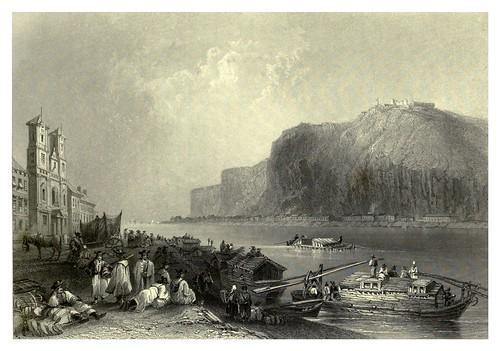 031-El Bloxberg o Gellért Hill visto desde Pesth 1844