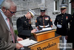 Bowdoin College 2009 Commencement: Marine Corps Ceremony (BowdoinCollege) Tags: college bowdoin