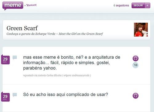 Green Scarf - Yahoo! Meme