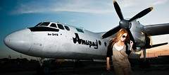 aero (AgusValenz) Tags: woman girl canon airplane rebel mujer chica aircraft centralasia kazakhstan avion xsi eurasia atyrau kazajistan