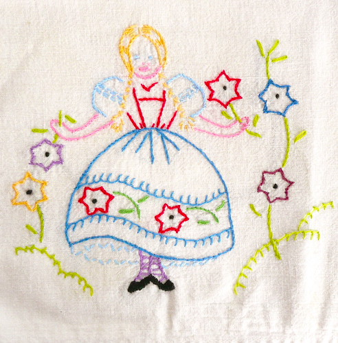 Vintage Girl Embroidery