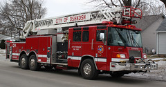 Oshkosh FD 1999 Pierce Quantum Quint Q14 (Winglet Photography) Tags: rescue wisconsin fire firetruck pierce fireengine squad emergency quantum oshkosh stockphoto ofd quint georgewidener georgerwidener