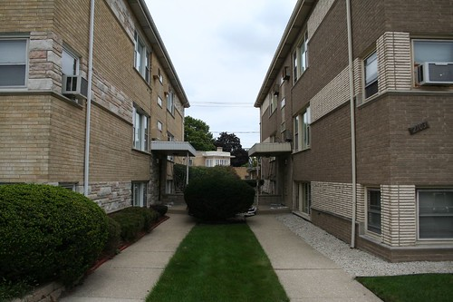 twin 6-flats (Harlem Ave?)