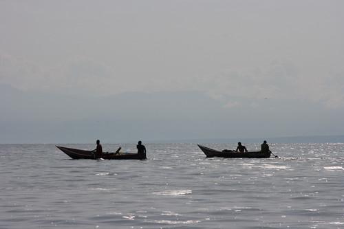 Fishing on Lake Edward