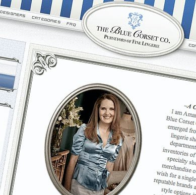 The Blue Corset Company Website