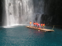 Tinago Falls , Iligan (SweetCaroline) Tags: blue people orange nature scenery philippines waterfalls raft sweetcaroline iligan tinago cascadingwaters lanaodelnorte freshwaters thecityofwaterfalls carolineespejon rumblingwater tinagowaterfalls iliganstouristattraction