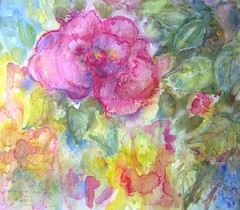 Watercolour:...Mon Amie La Rose...song by Franoise Hardy and Natacha Atlas... (Nadia Minic) Tags: rose interestingness friend song ms watercolour luxembourg chanson amie lied lyric freundin natachaatlas franoisehardy nadiaminic nadiaart
