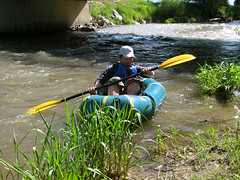 Takashi taking his first strokes (Wisner Crossing, Montana, United States) Photo