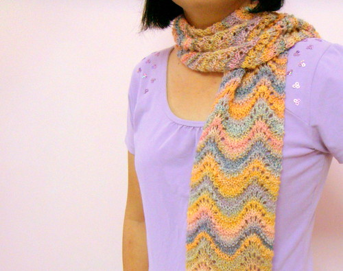 Feather & Fan Scarf