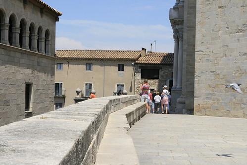 Desde la catedral, con Paloma