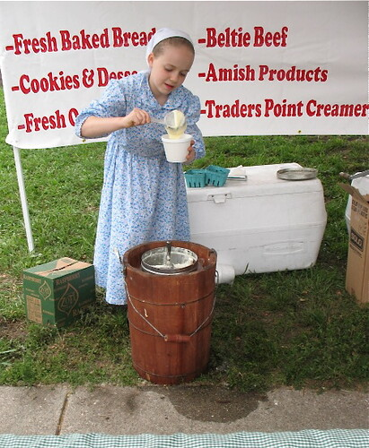 Hand-churned ice cream