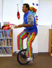 Unicycler! (hcplebranch) Tags: unicycle juggling harriscountypubliclibrary aldinebranchlibrary srp2009 claudesims