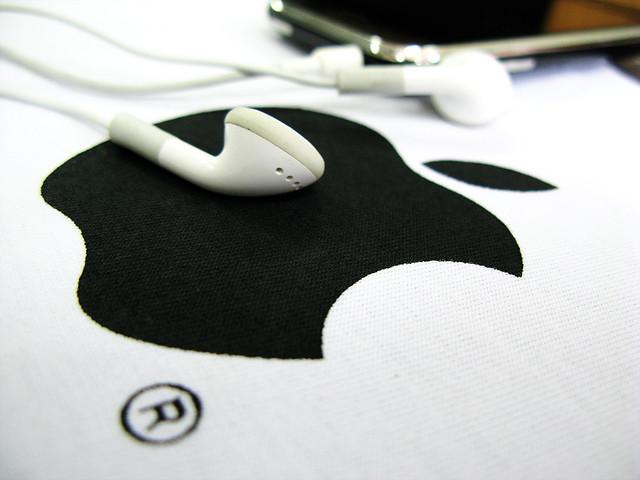 white black apple headphone iphone