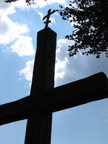 Orthodox cross at Telatycze