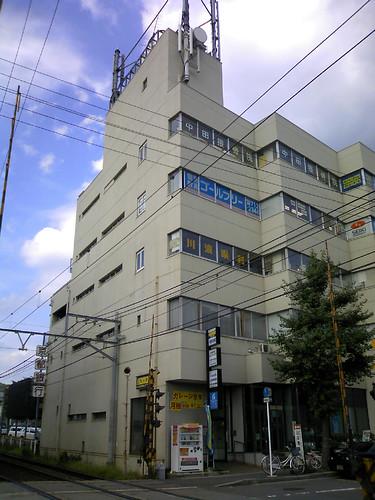 叡山電車 修学院駅前のビル