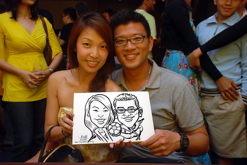 Caricature live sketching for Standard Chartered Bank - 3