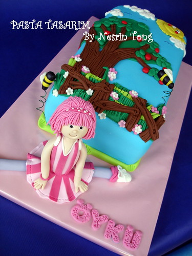 ÖYKÜ BIRTHDAY LAZY TOWN- STEPHANIE CAKE