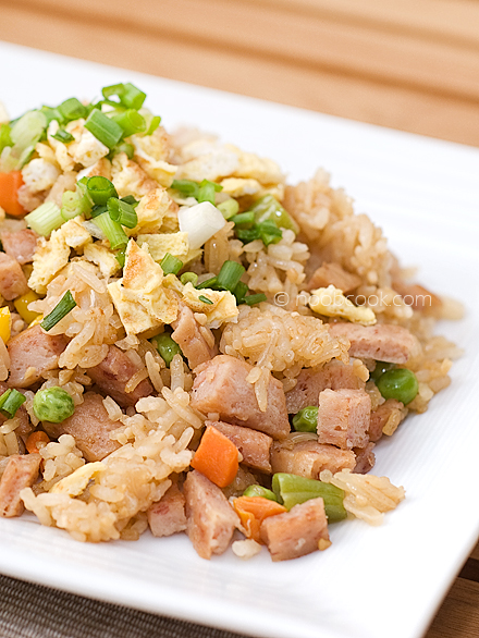 Fried Rice with Luncheon Meat