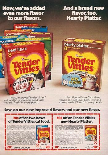 1980 Ralston Purina Tender Vittles Cat Food Magazine Adcoupons A