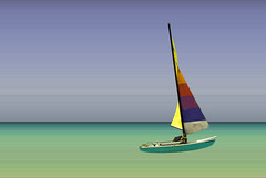 Coloured boat (Maron) Tags: photoshop boat colours stripes ps jamaica sail soe negril supermarion bildekritikk marionnesje
