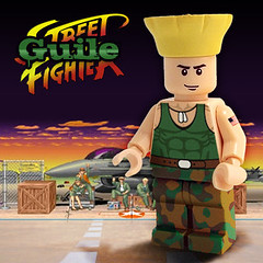 Guile (Street Fighter) (Morgan190) Tags: lego videogame decal minifig fighting custom streetfighter guile m19 minifigure morgan19