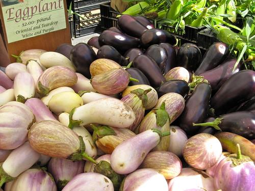 eggplants at the union square market
