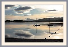 Evening On Loch Insh (Mac ind g) Tags: summer reflection evening scotland boat framed loch lts kincraig insh invernessshire lochinsh