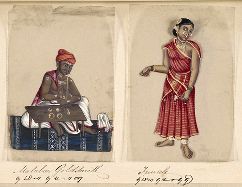 016- Orfebre Malabar y su mujer-Seventy two specimens of castes in India 1837