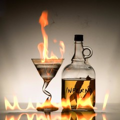 Inferno (ICT_photo) Tags: glass fire bottle martini flame alcohol inferno vodka peppers spicy