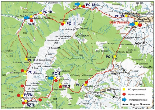harta maraton piatra craiului