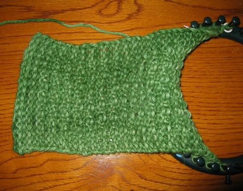 Moss scarf WIP