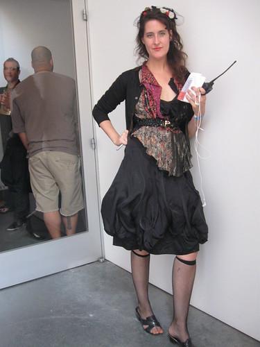 Casting Director extraordinaire Jen Vendetti in Comme des Garcons + Balenciaga