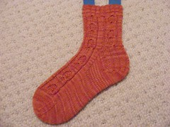 Pumpkin socks wip