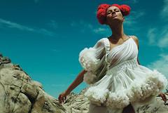 editorial (newsha111990) Tags: red white fashion model dress vogue editorial