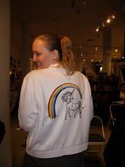 Sharon\'s unicorn jacket