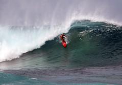 Rockpile Under The Lip (sgblyth) Tags: ocean beach hawaii surf waves oahu surfer tube tubes wave surfing northshore vague vagues olas welle ola onde rockpile