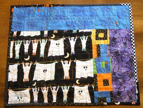 Halloween doll quilt back