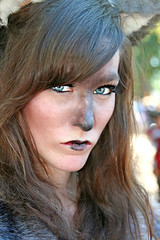 Fangs Hidden (wyojones) Tags: woman girl beautiful beauty face look animal festival mouth eyes skins wolf texas expression ears lips trf bite faire renfaire brunette renaissancefestival fangs facepaint renaissance renaissancefaire renfest element rennie shewolf texasrenfest texasrenaissancefestival plantersville animalskins wolfwoman toddmission toddmissiontexas wyojones elementofair